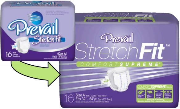 Prevail StretchFit Comfort Supreme Diaper