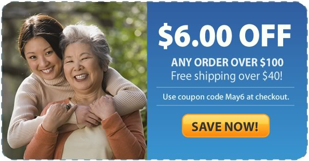 Save $6.00 off all orders over $100 at Total Home Care Supplies!