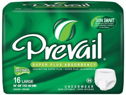 Prevail Super Plus Underwear on sale now at TotalHomeCareSupplies.com