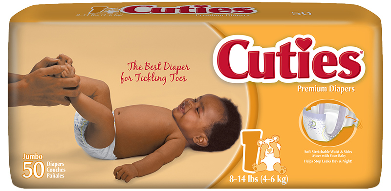 Cuties CR1001 Baby Diapers Size 1