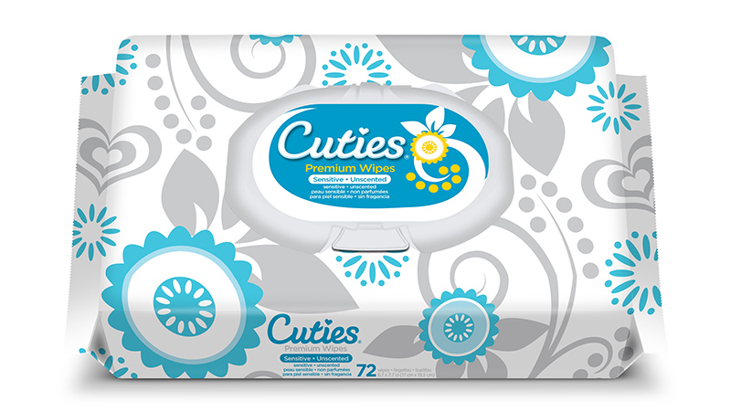 Cuties Premium Baby Wipes for Sensitive Skin