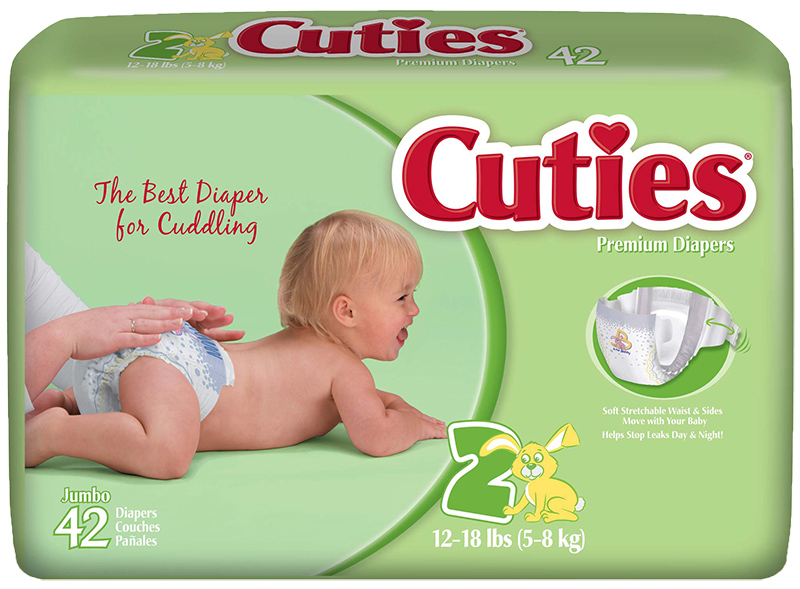 Cuties CR2001 Baby Diapers Size 2