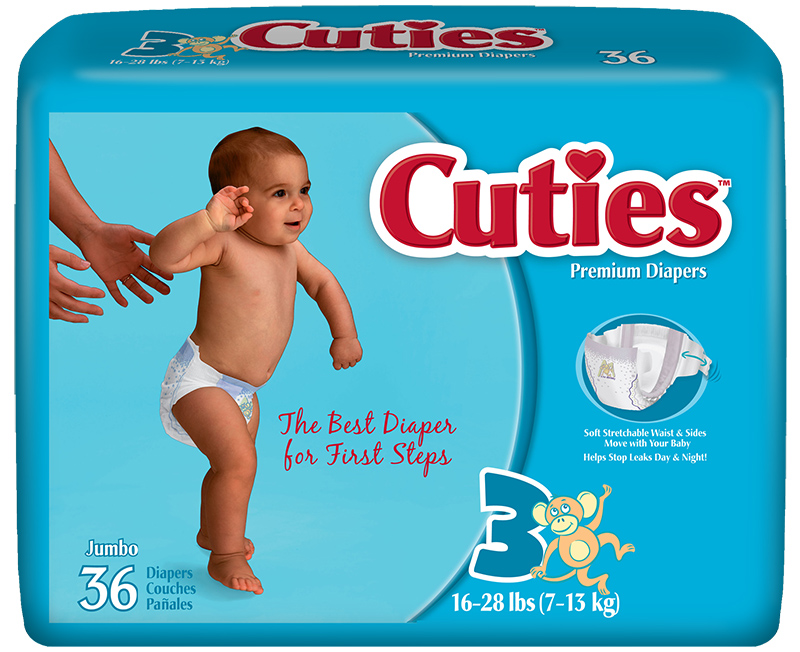 Cuties CR3001 Baby Diapers Size 3