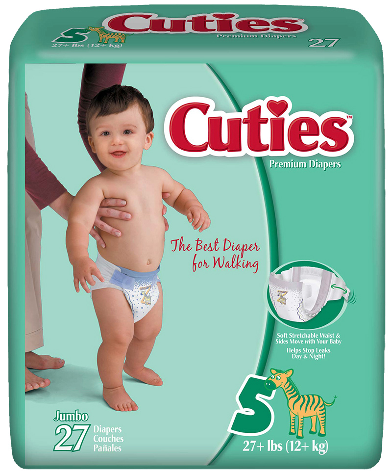 Cuties CR5001 Baby Diapers Size 5