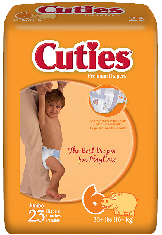 Cuties CR6001 Baby Diapers Size 6