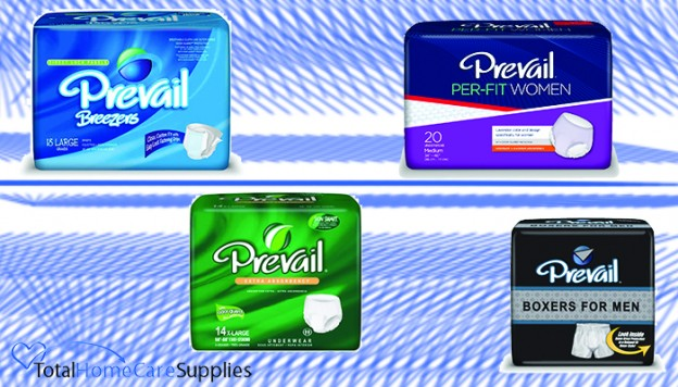 Some of Prevail's incontinence products